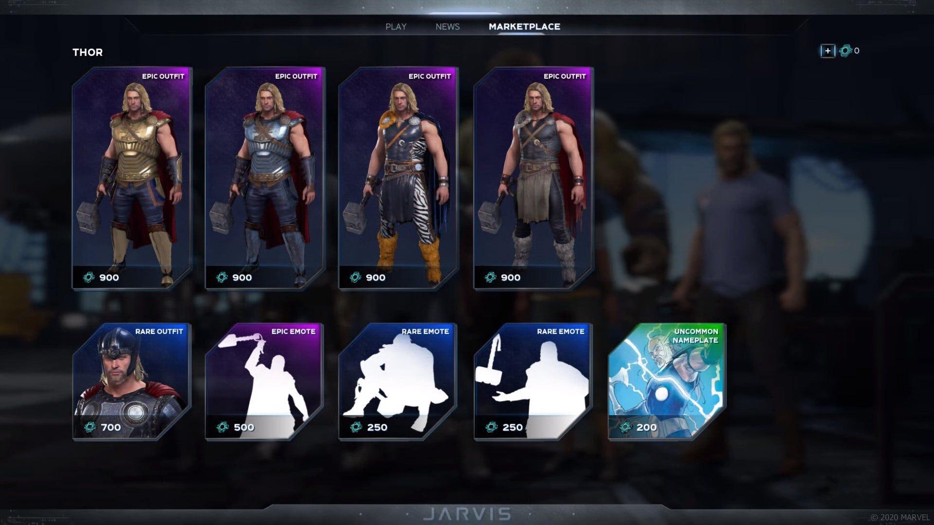 Avengers cosmetic upgrades