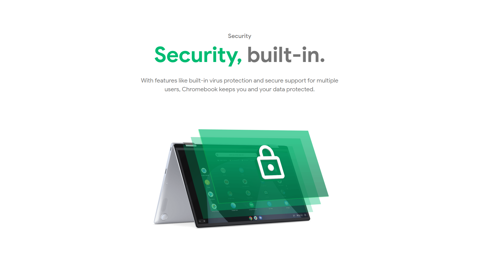 Built-in security on Chromebooks