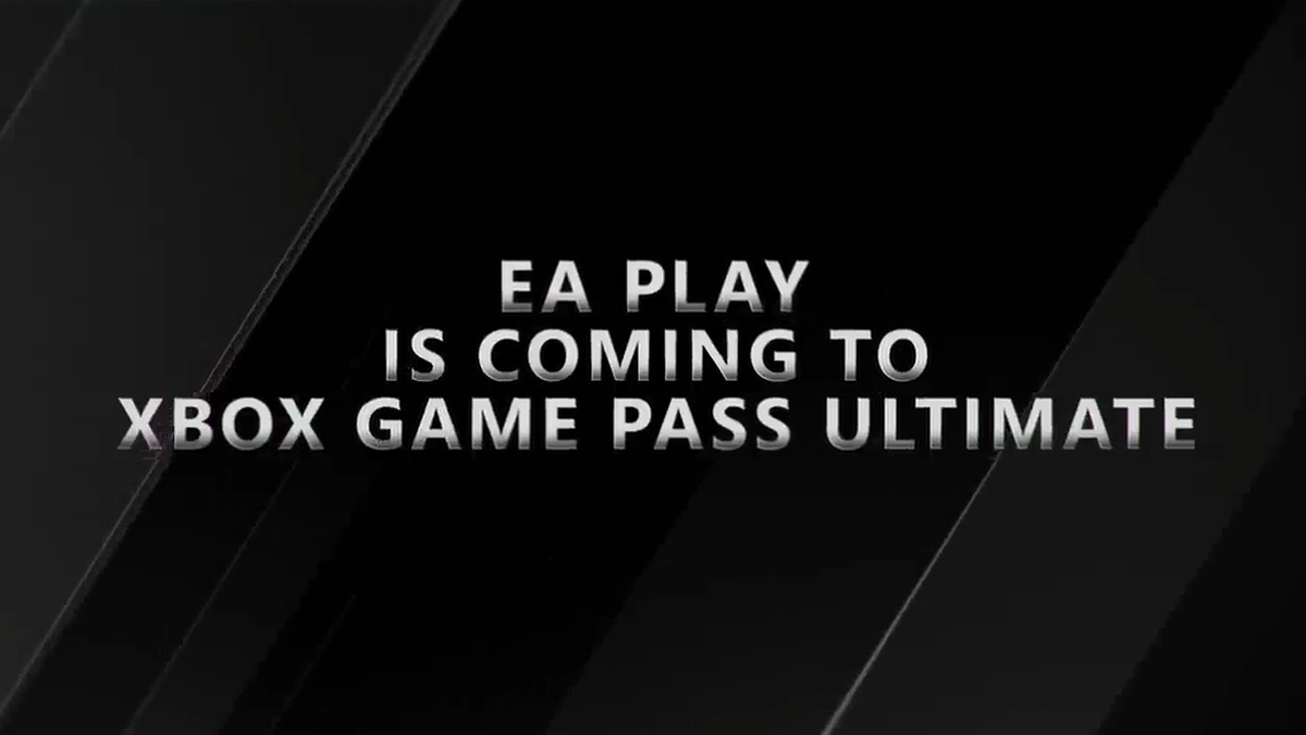 """A banner stating that """"EA Play Is Coming to Xbox Game Pass Ultimate."""""""