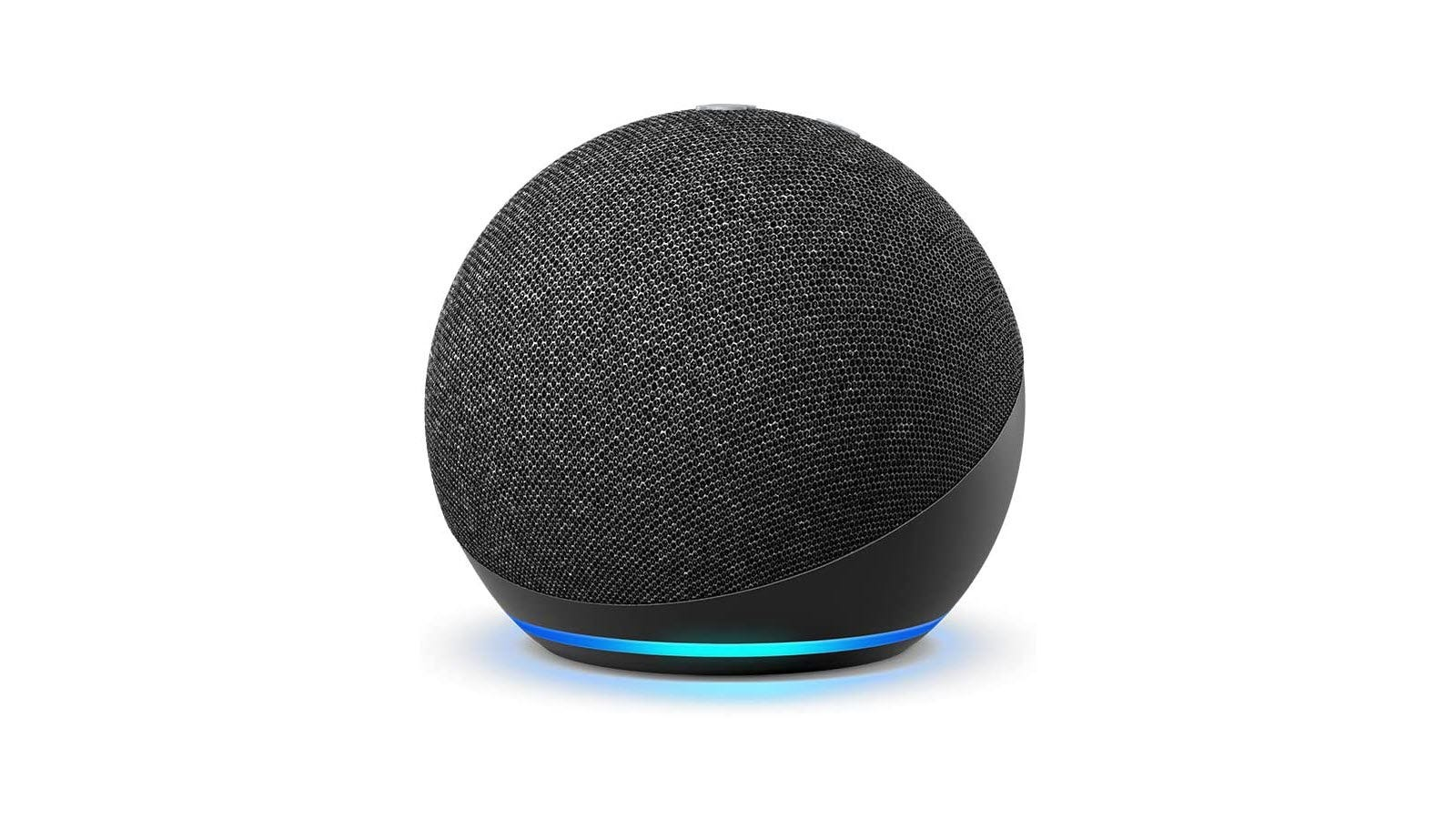An Echo dot in sphere form.