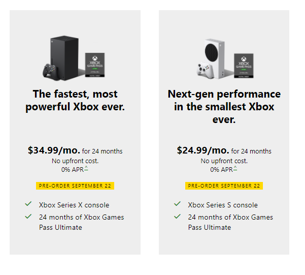 Xbox Series X and S subscription details