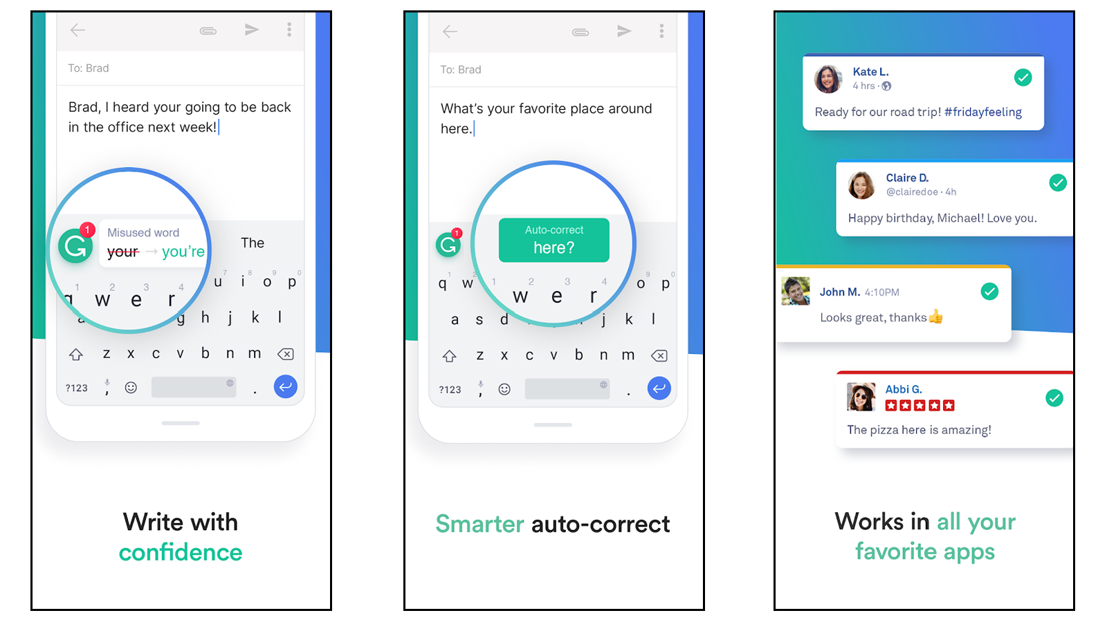 Grammarly app to help you avoid spelling errors and write stronger