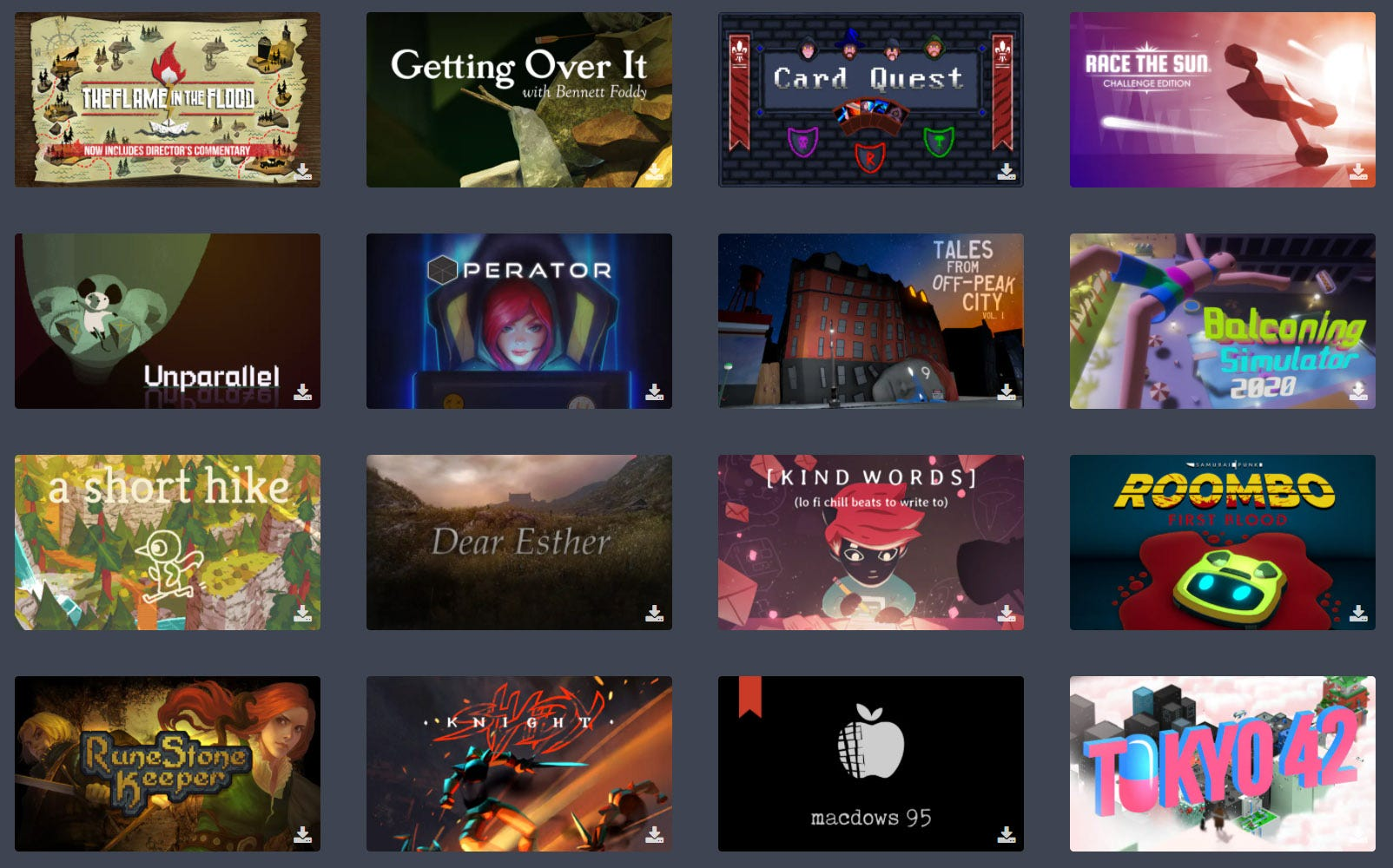 Humble subscription games