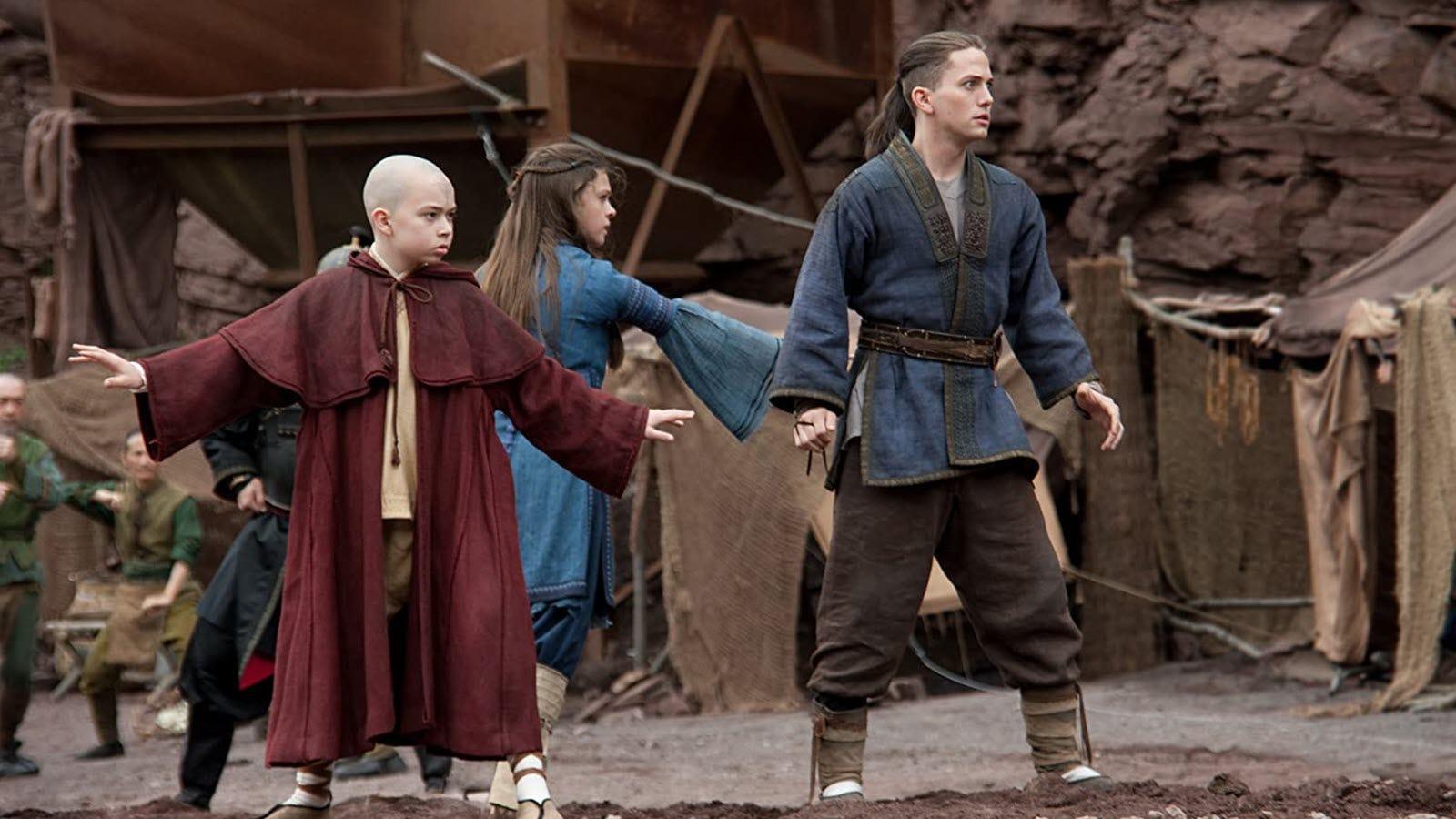 Katara, Aang, and Sokka