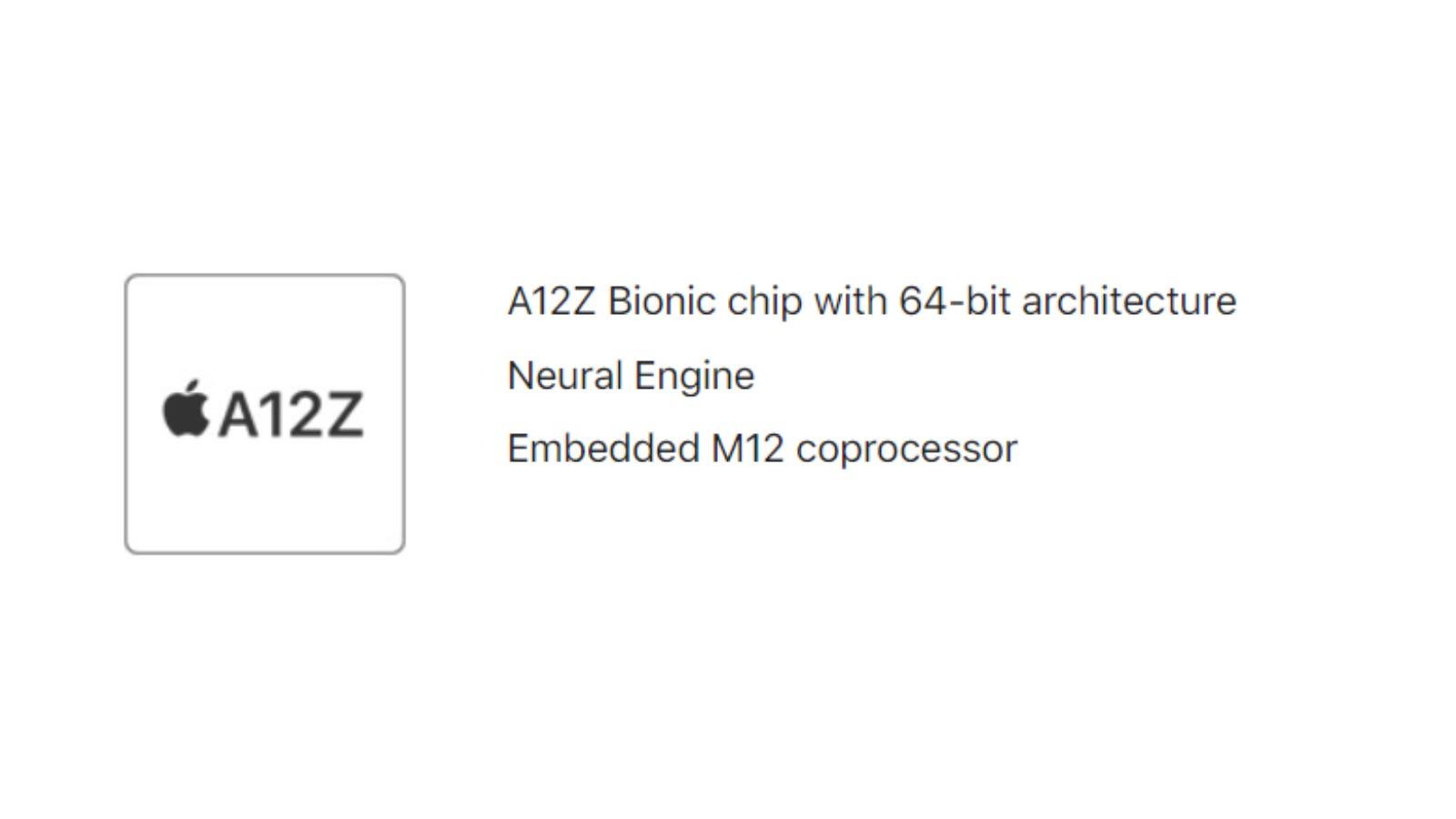 iPad Pro A12Z Processor Specs