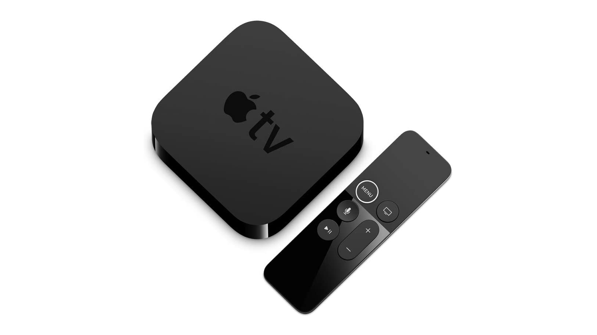 A photo of the Apple TV streaming box.