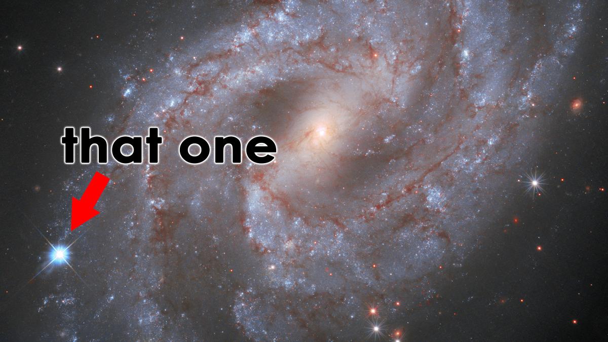 A photo of the SN 2018gv supernova.