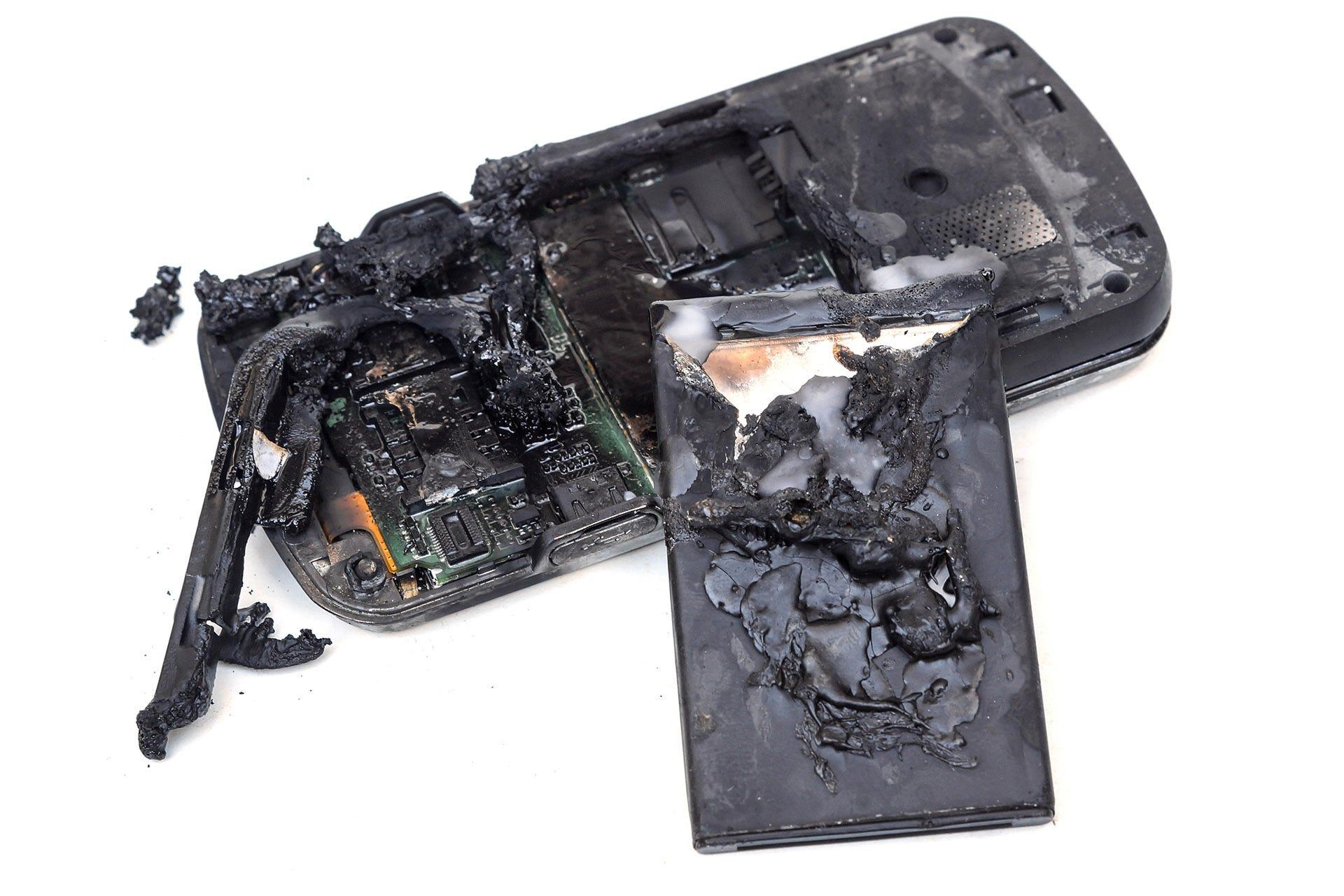 exploded battery