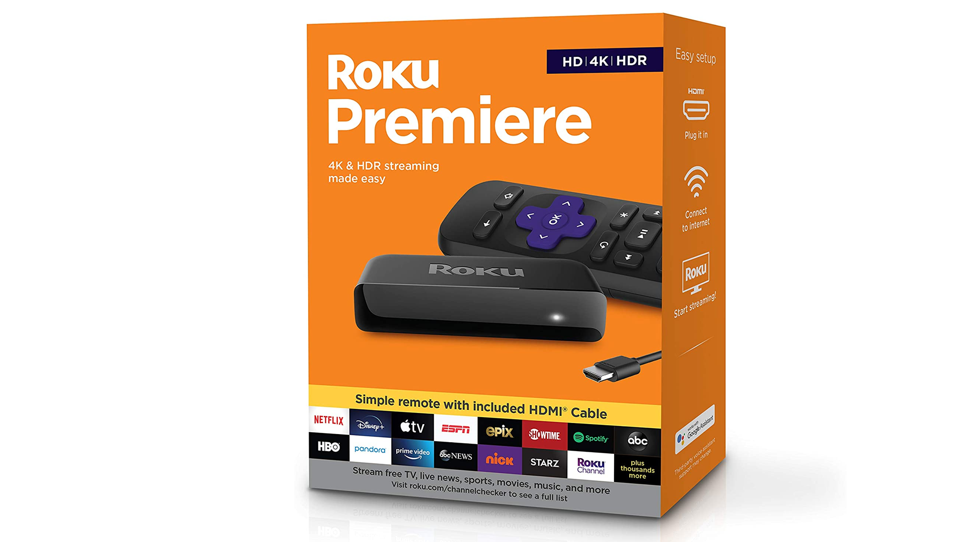 A photo of the Roku Premiere box.