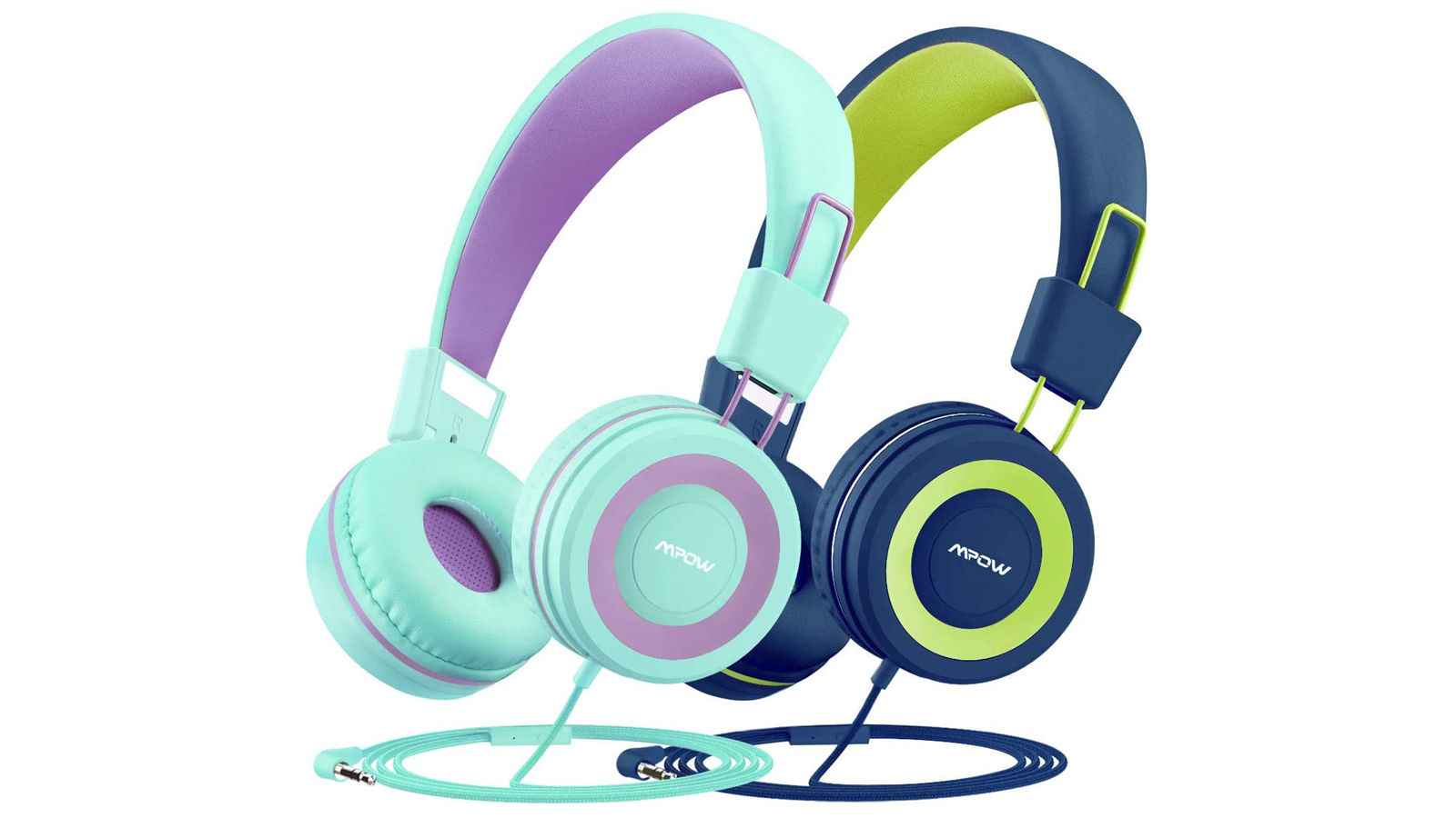 Mpow CH8 2-pack headphones in different colors