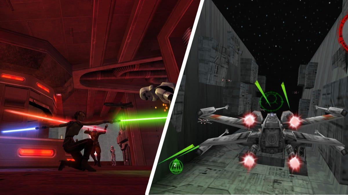STAR WARS Jedi Knight - Jedi Academy and STAR WARS: Rogue Squadron 3D