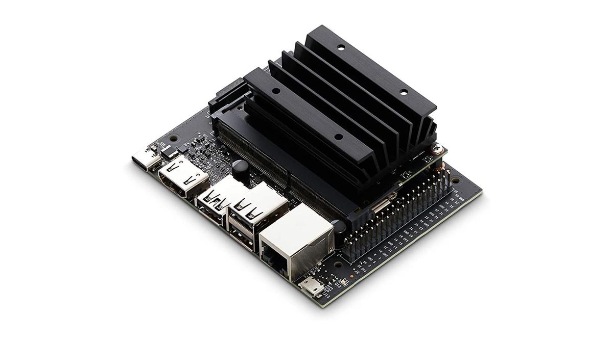 A photo of the NVIDIA Jetson Nano 2GB board.