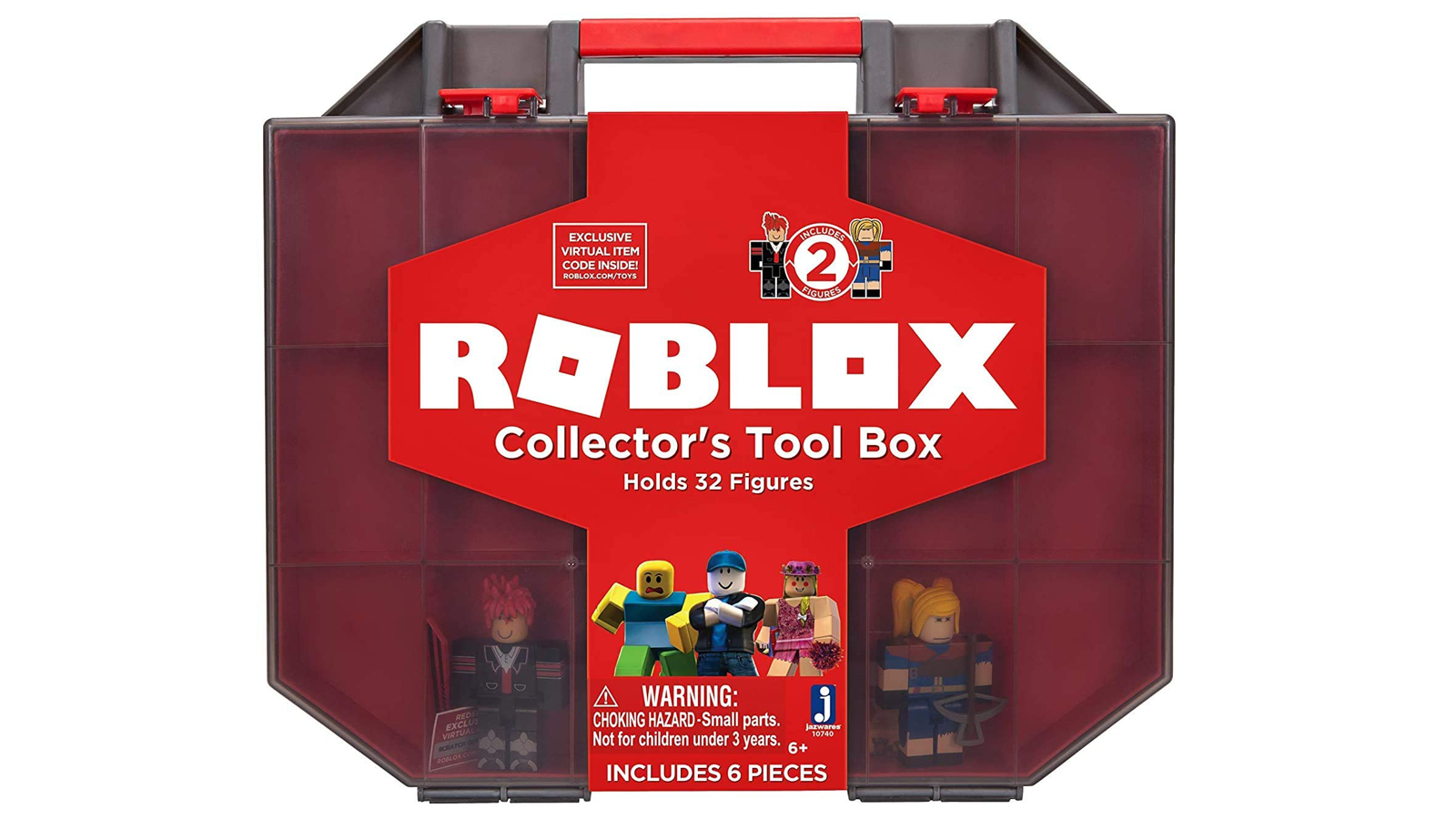 """The """"Roblox"""" Collector's Tool Box with two figures inside."""