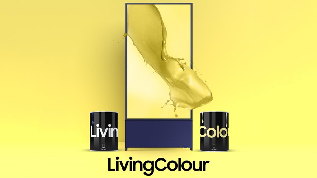 A banner showing Samsung's LivingColor housepaint.