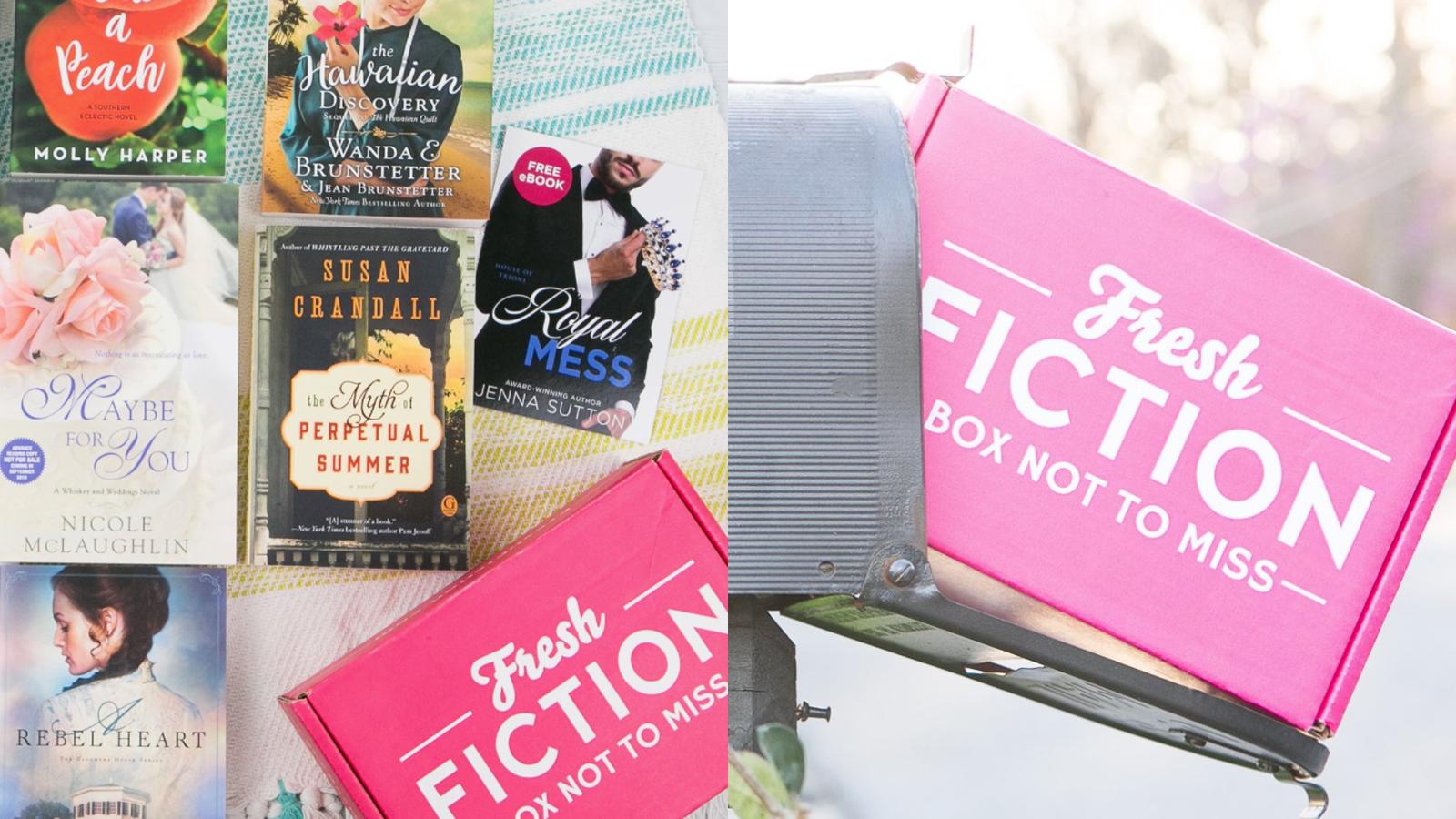 Fresh Fiction Box books and box in mailbox