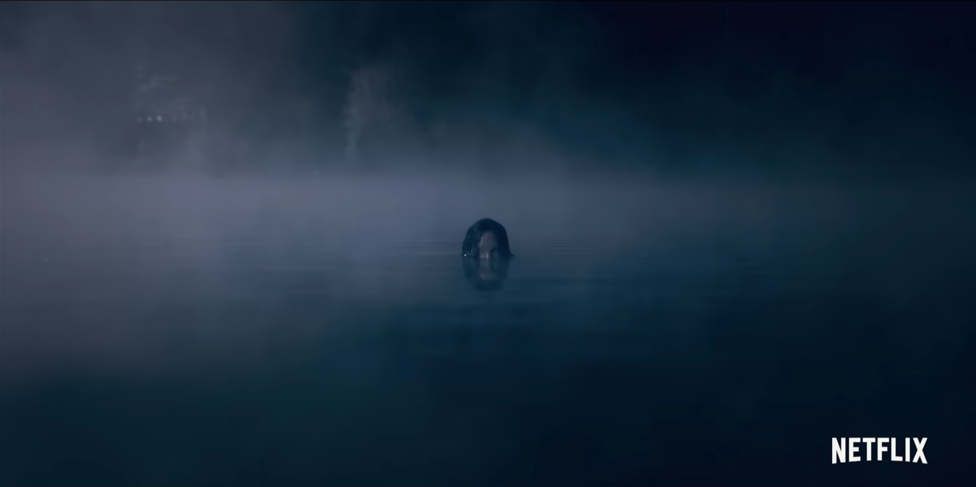 The Lady of the Lake rises from the water in The Haunting of Bly Manor