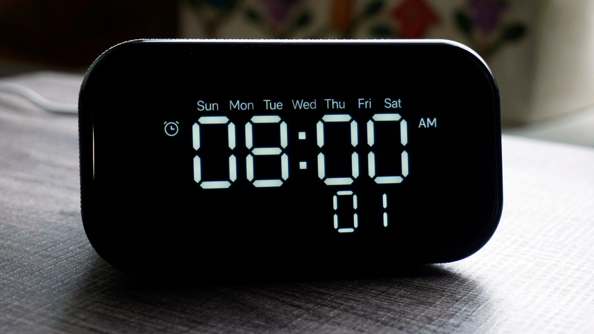 Lenovo Smart Clock Essential alarm setting