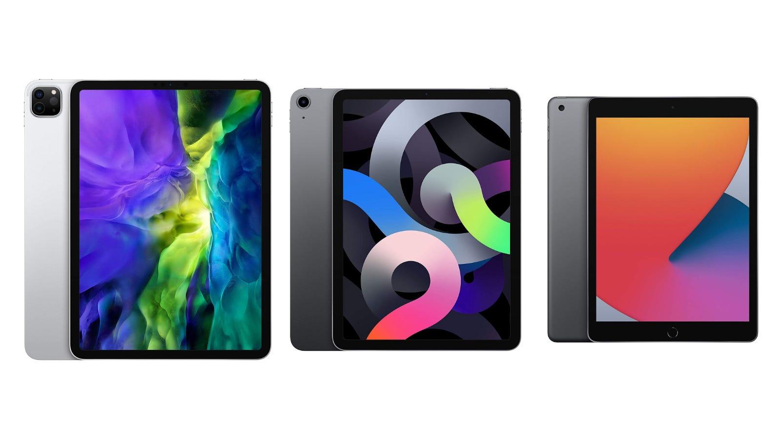 iPad Pro, iPad Air, and iPad