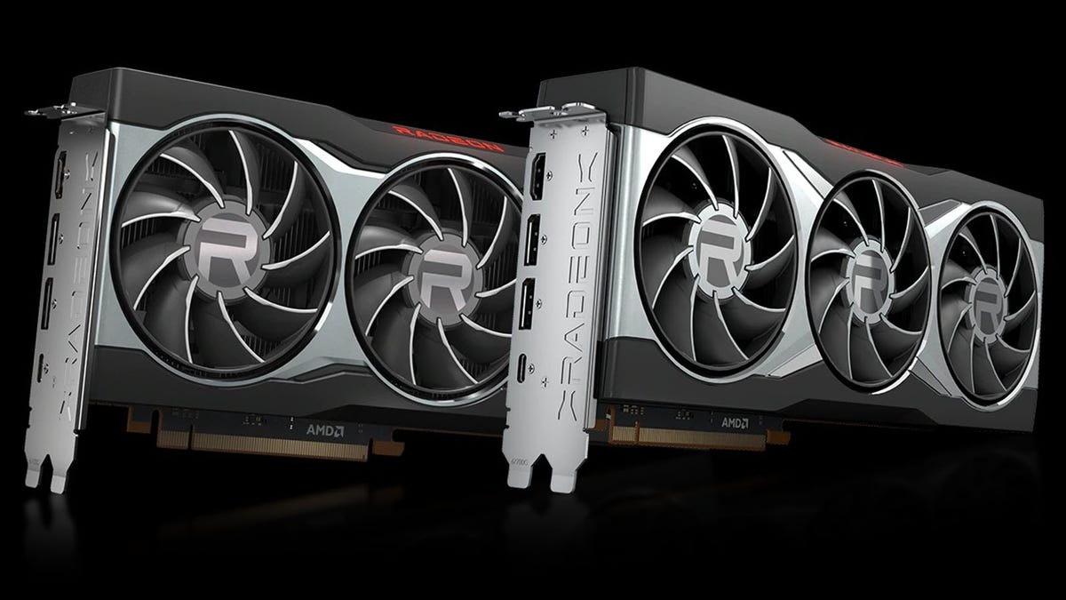 Two ADM graphics cards, sporting a triple fan design.