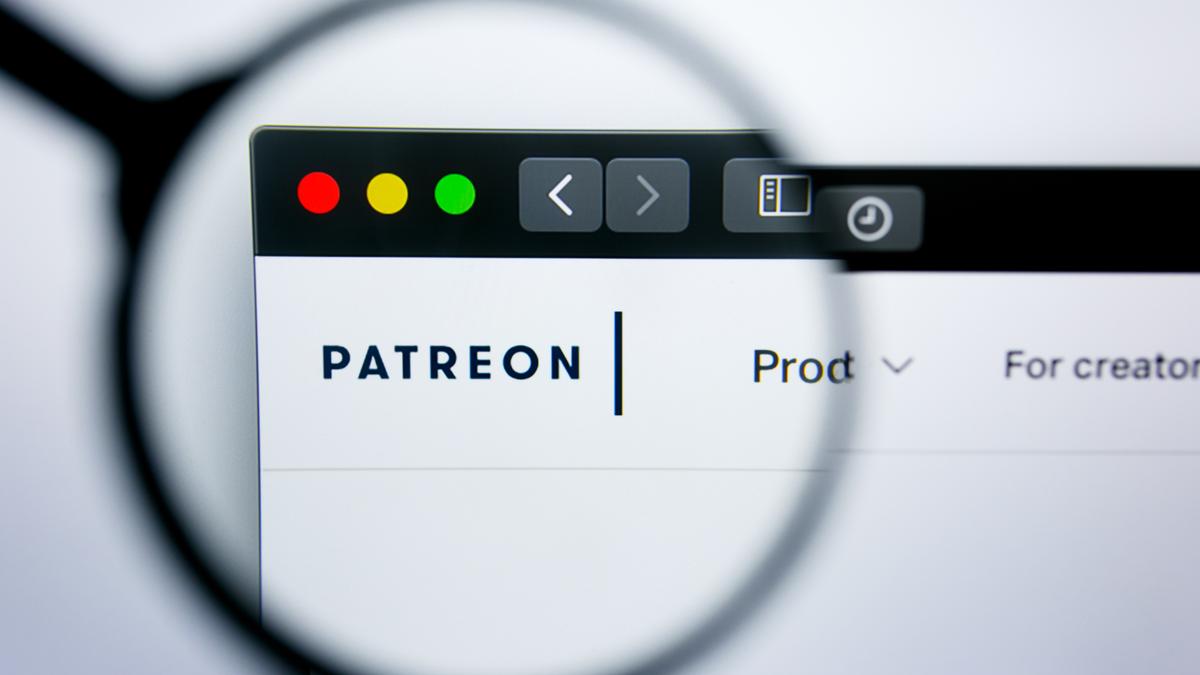 Illustrative editorial of Patreon website homepage