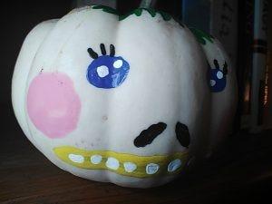 Painted pumpkin photo.