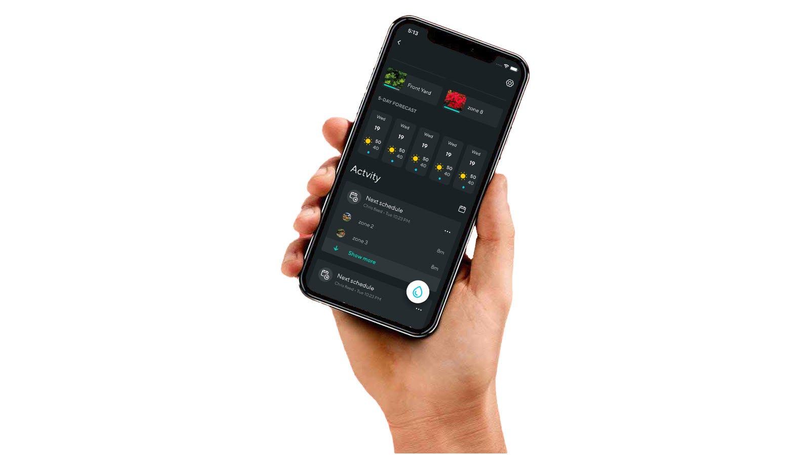 A Wyze app with sprinkler controls.