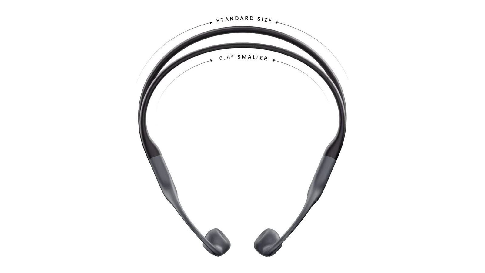 A side by side comparison of the AfterShokz Aeropex and Aeropex Mini