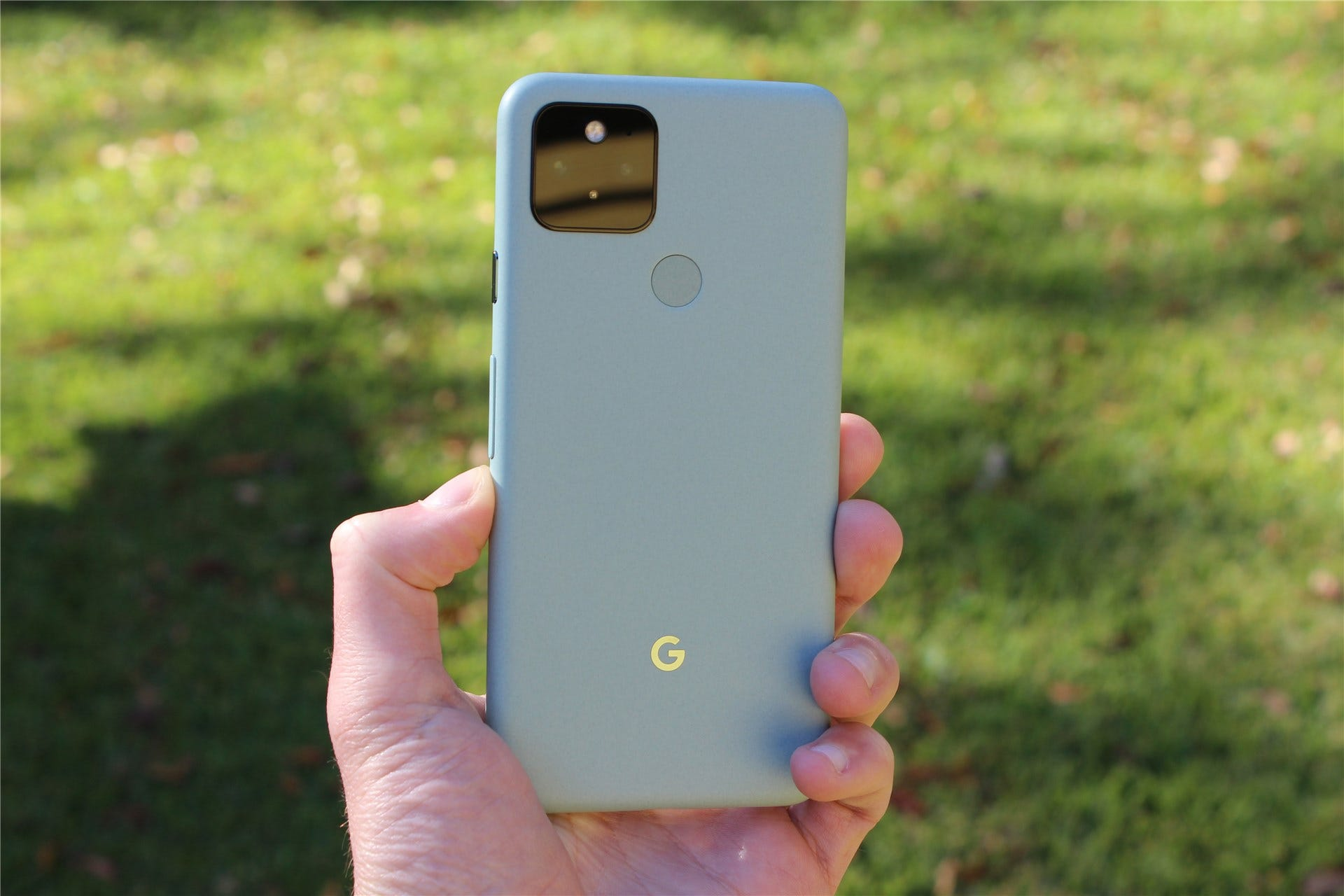 The Pixel 5 in Sage Green