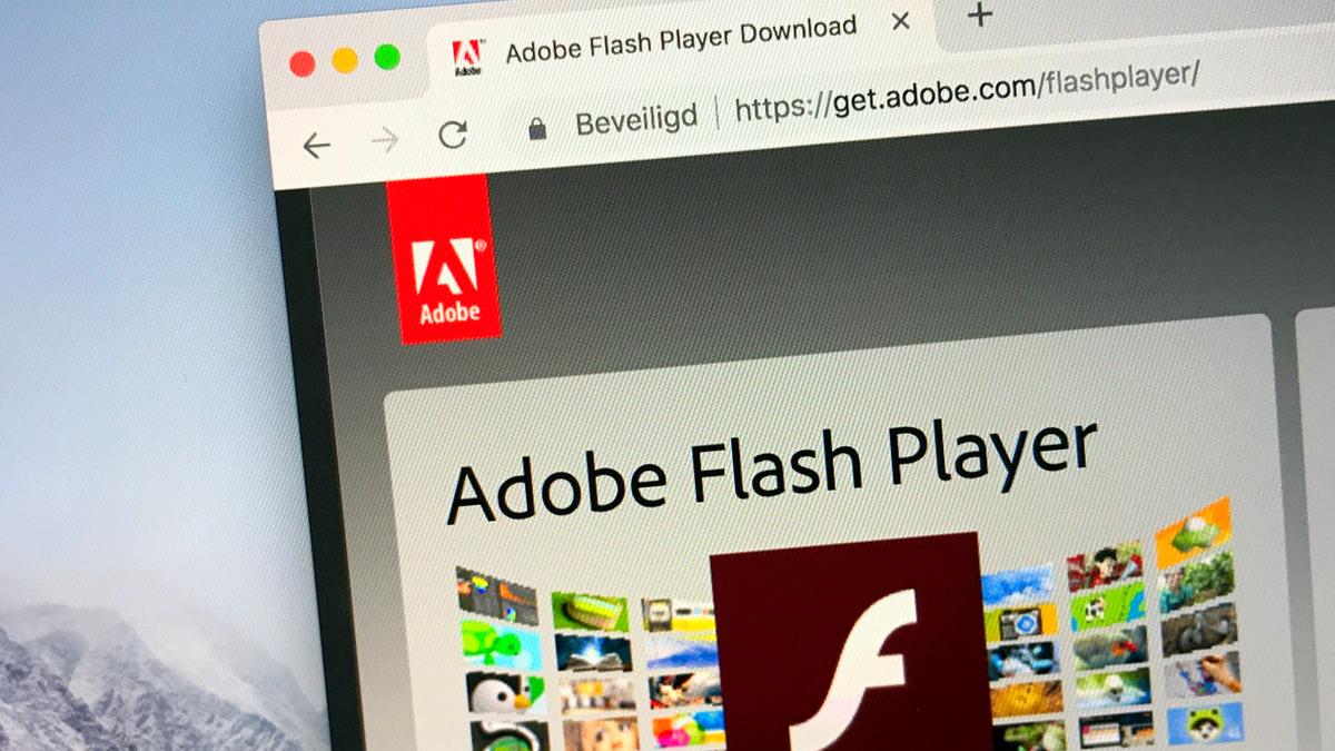 Website of Adobe Flash player