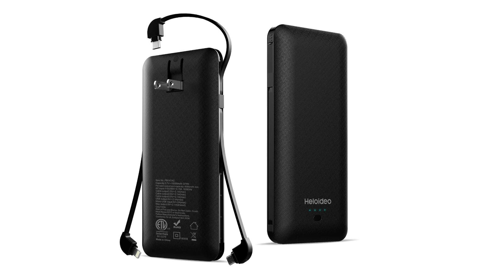 Heloideo 10000 mAh Slim Charger