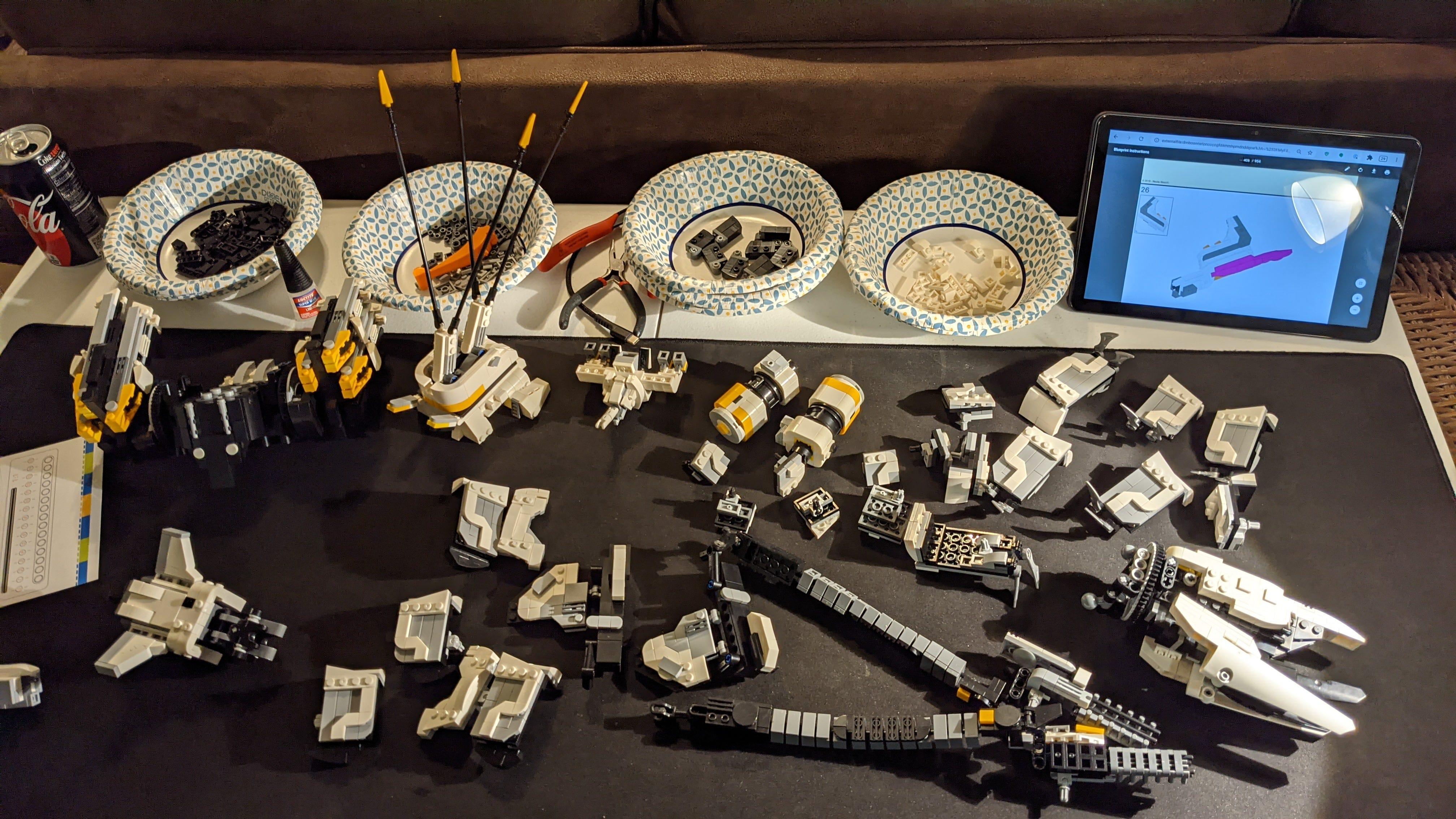 LEGO Thunderjaw secondary pieces