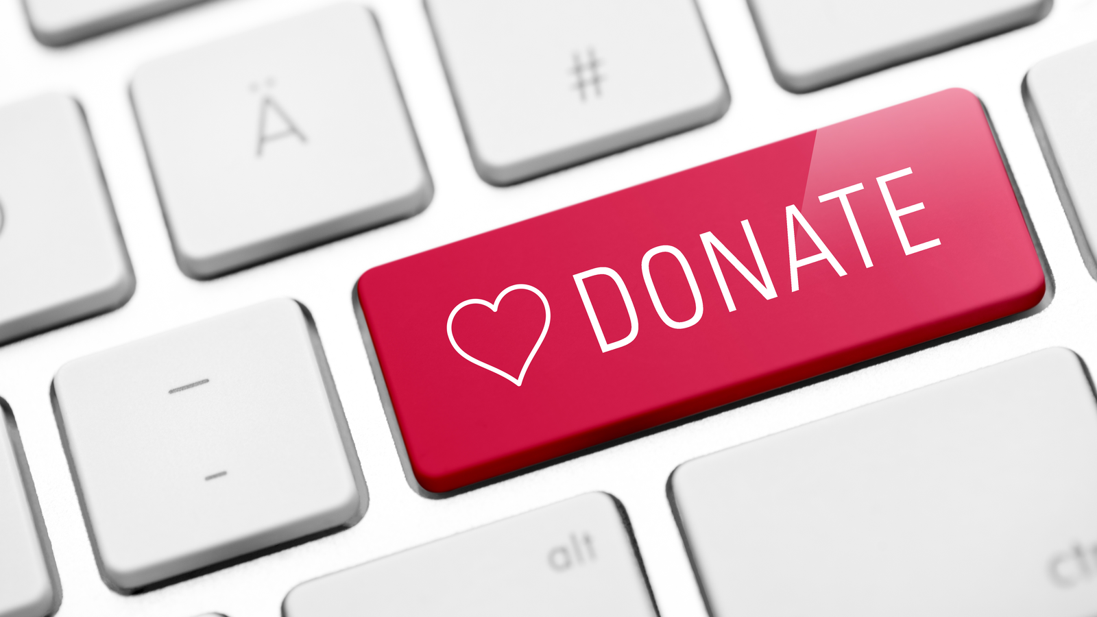 online donate key on computer keyboard