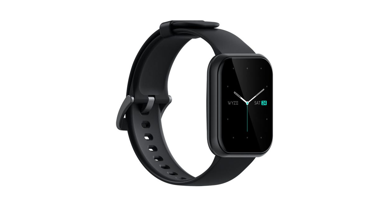 A Wyze Watch over a white background.