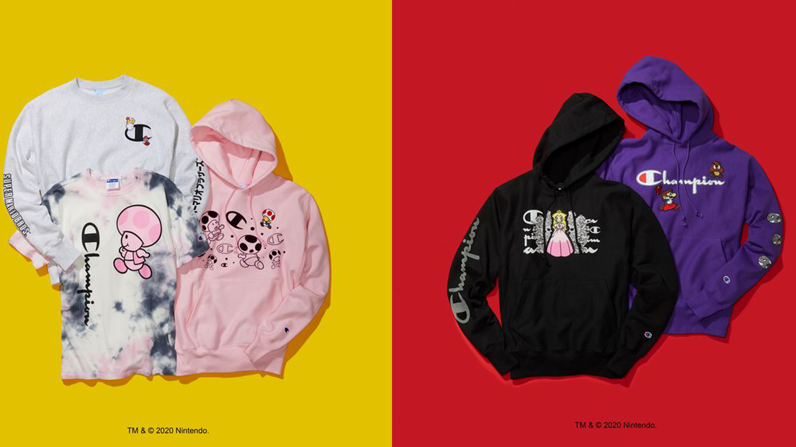 Additional Champion Nintendo collaboration clothing items