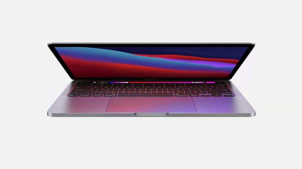 An M1-powered MacBook