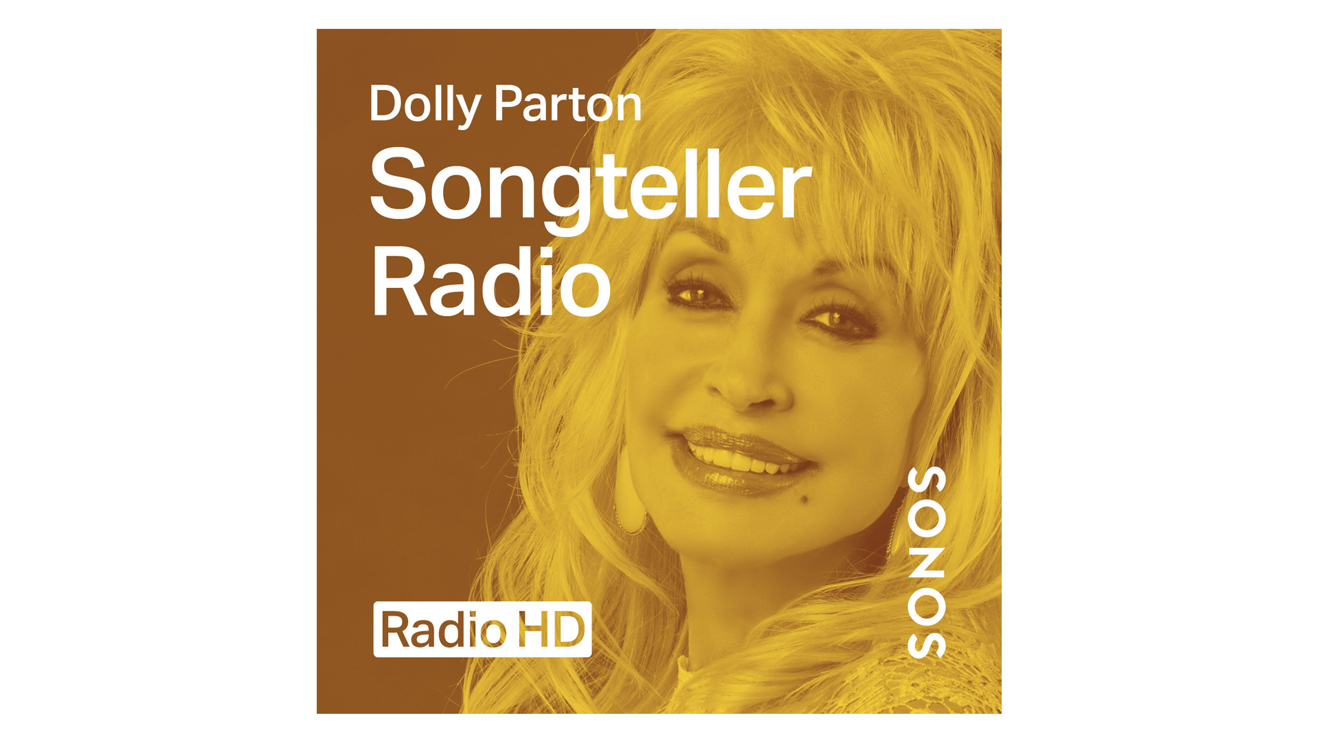 The banner for Dolly Parton's 'Songteller Radio' show.