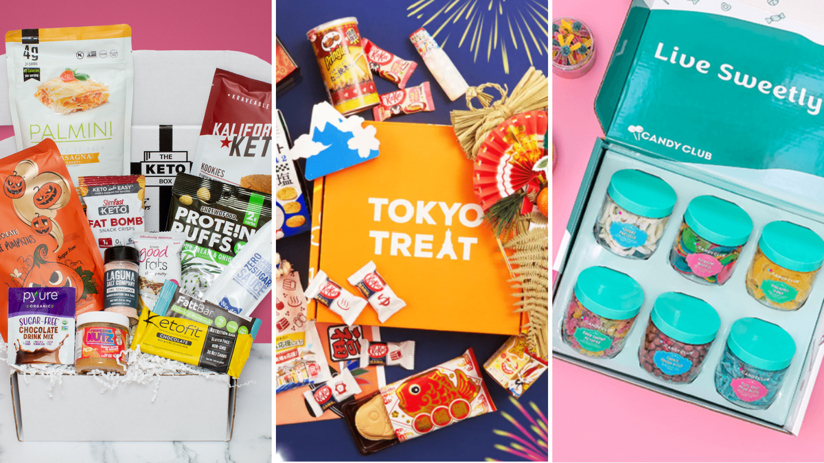 Various snack subscription boxes for candy and other treats