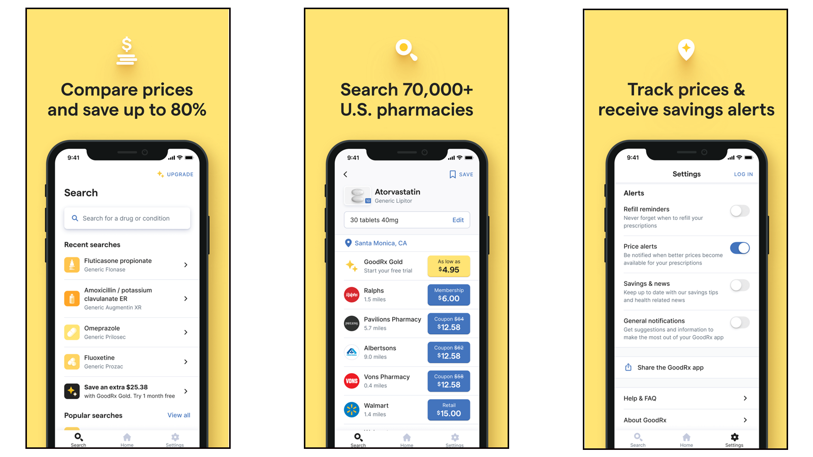 GoodRX app for finding prescription and OTC medicine coupons and discounts