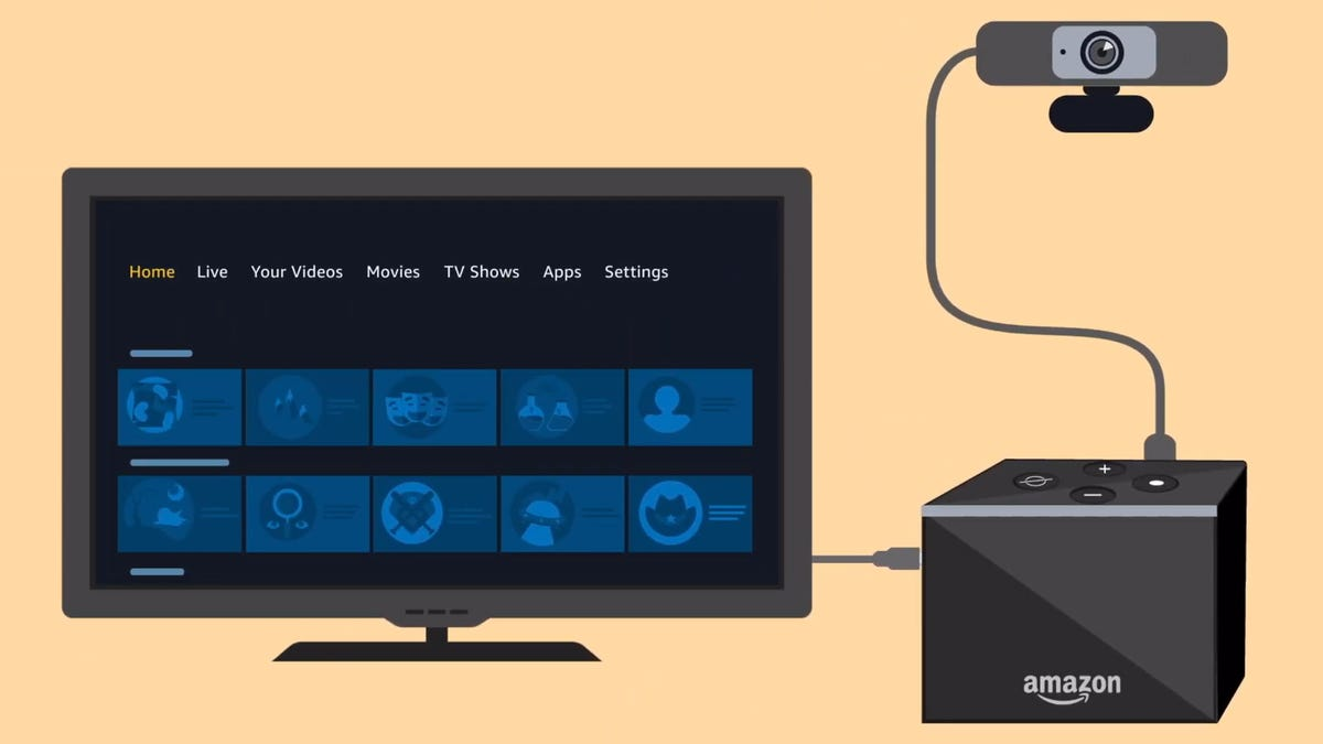 Fire TV Cube with webcam