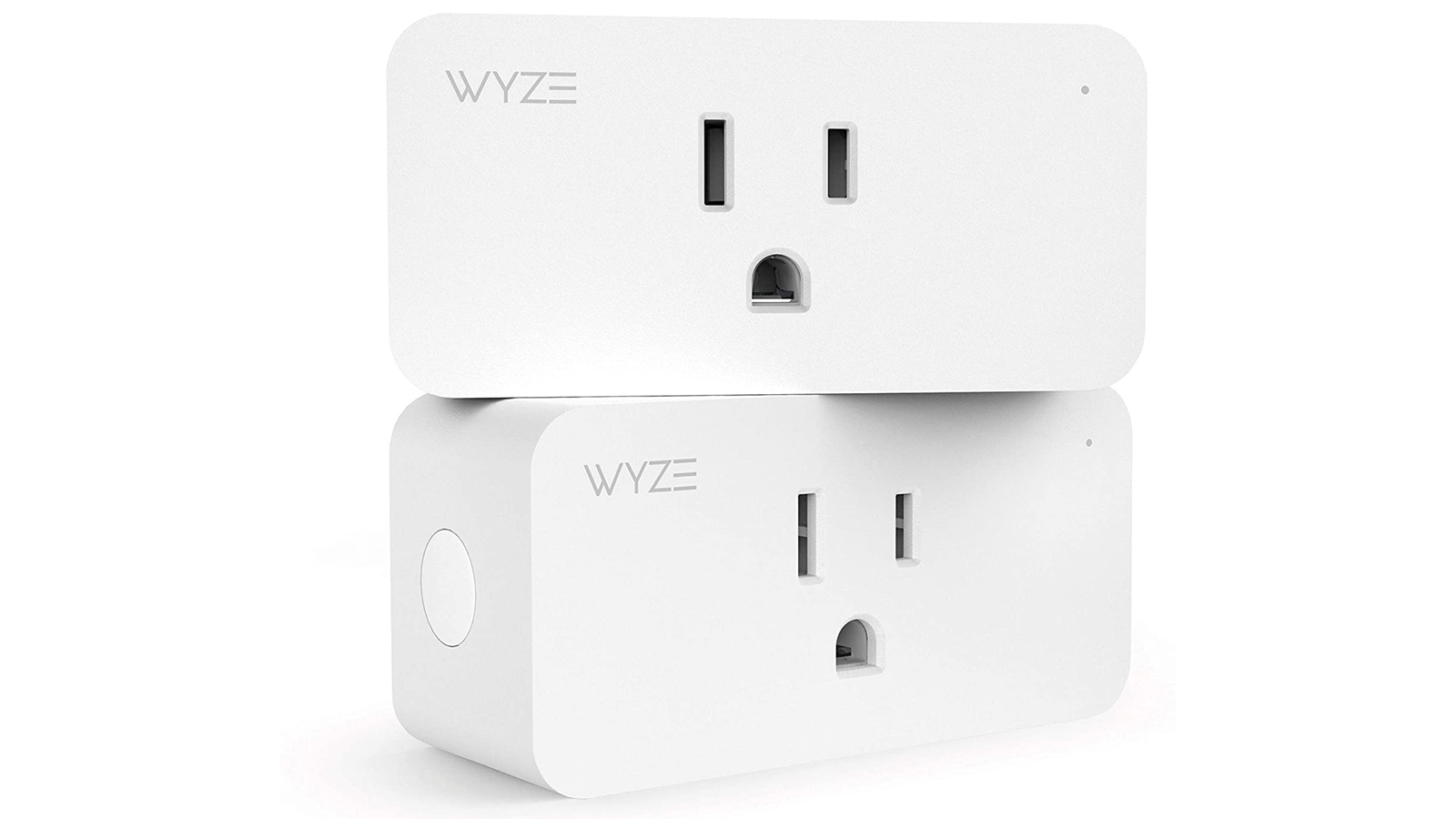 Two Wyze Plugs stacked on one another