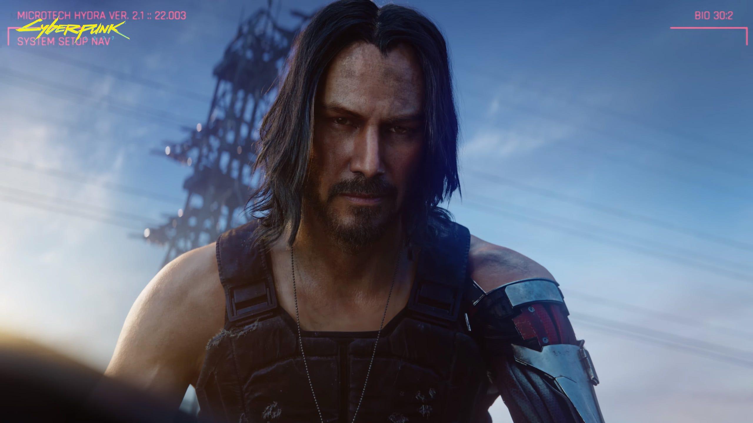 Keanu Reeves as Johnny Silverhand