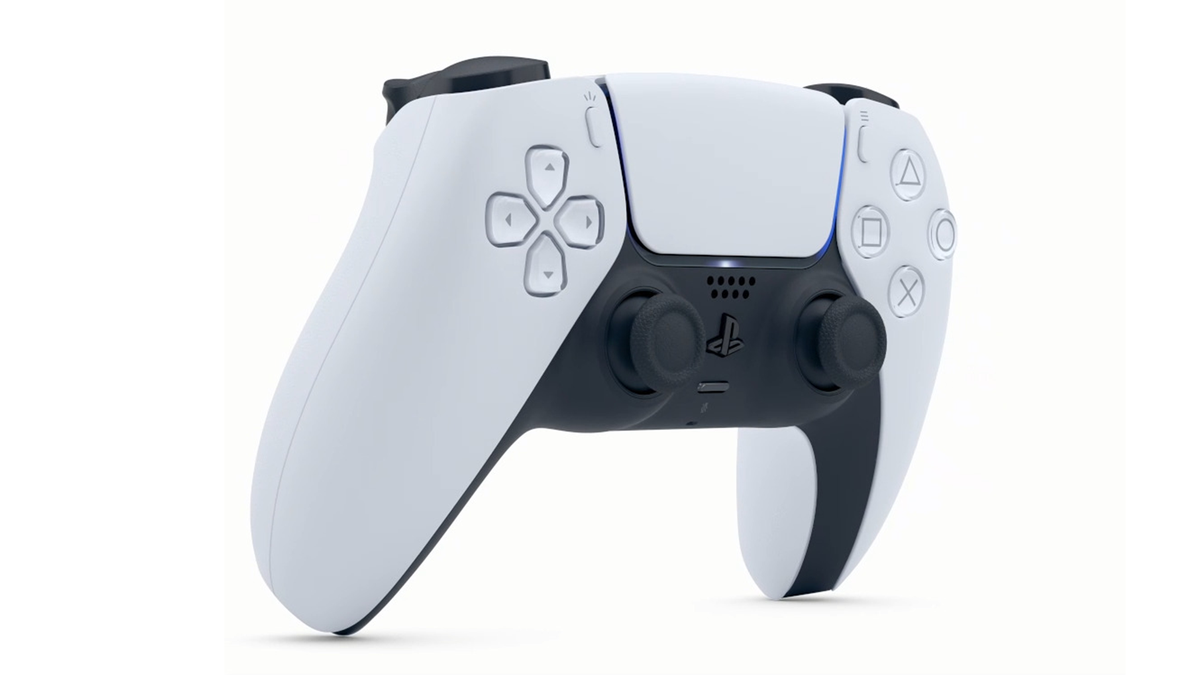 A photo of the Sony PlayStation 5 DualSense controller, which now works on Steam for PC gaming.