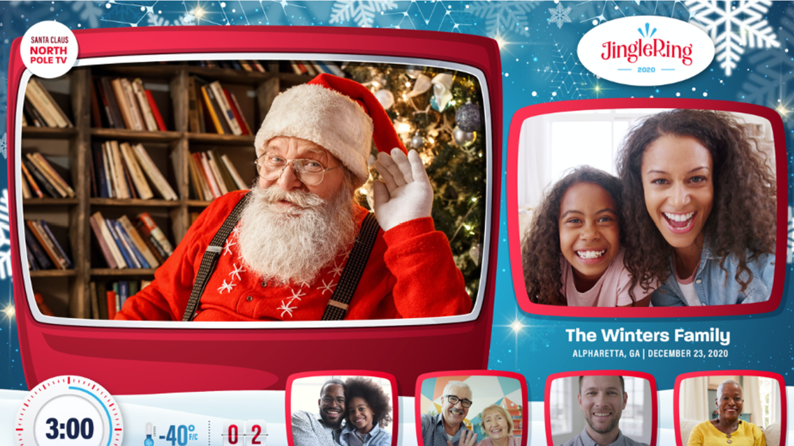 JingleRing Santa video call service