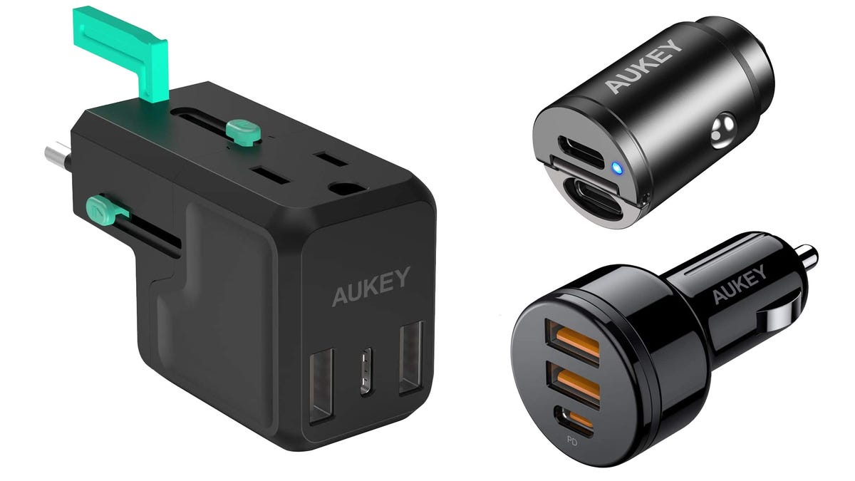 Aukey travel charger and car chargers