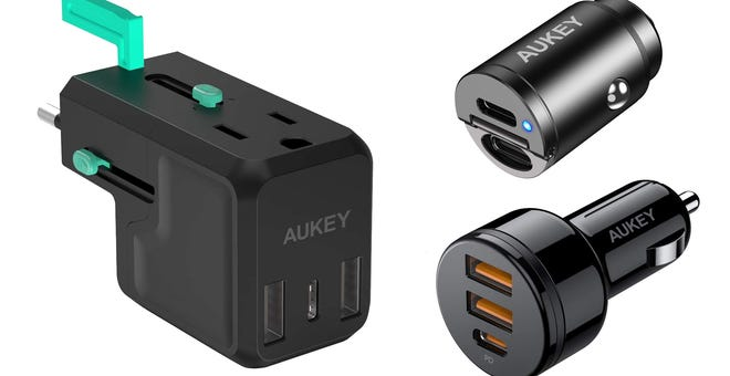 Aukey Sale Offers Steep Discounts on Car and Travel Chargers
