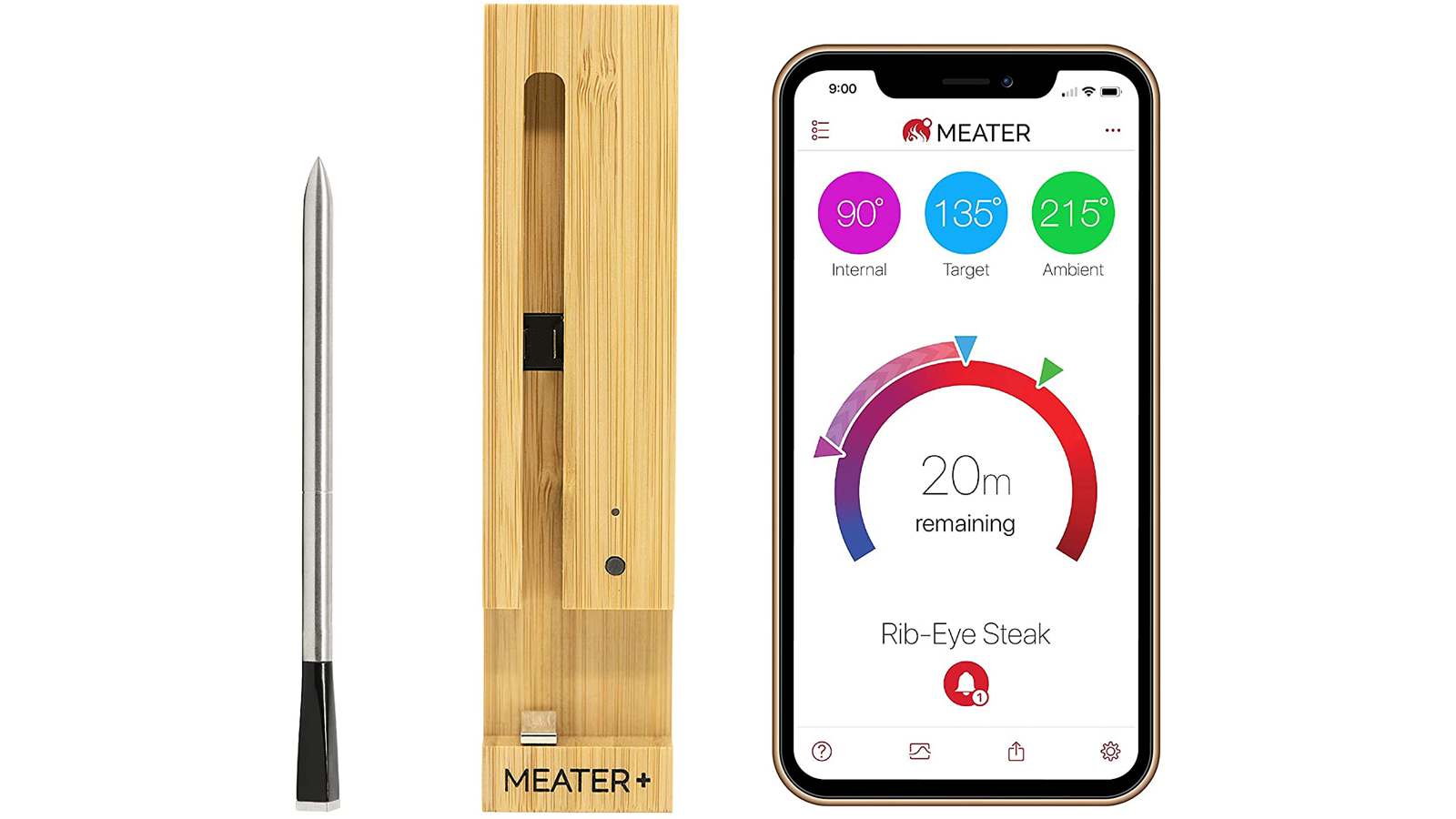 MEATER Smart Meat Thermometer and companion mobile app