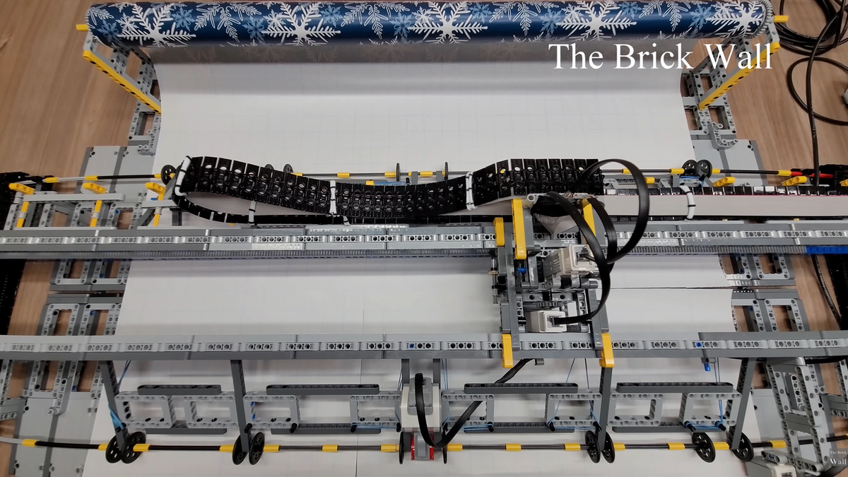 Custom LEGO Wrapping Paper Cutter by The Brick Wall