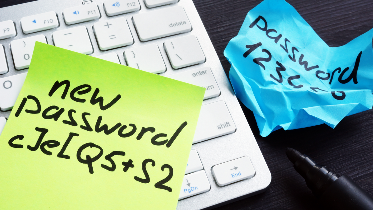 Strong and weak passwords on pieces of paper