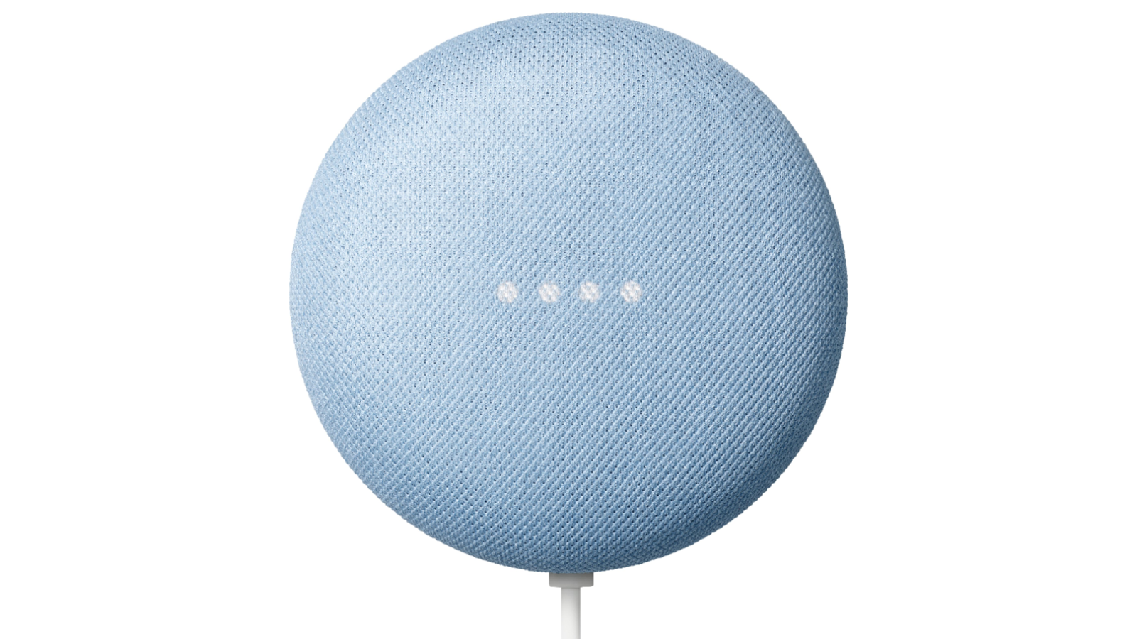 Google Nest Mini smart speaker in sky blue