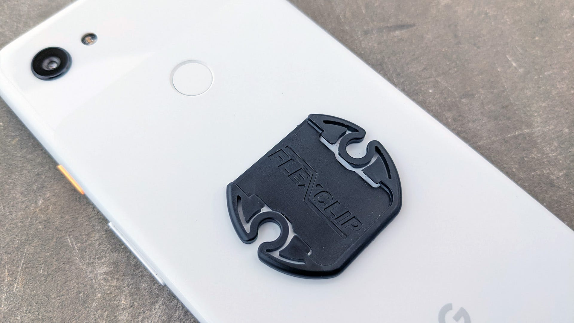 FlexClip on the back of a Pixel phone